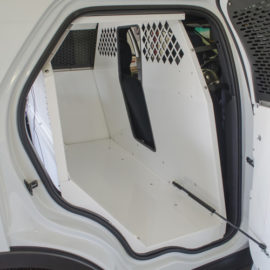 inside image of k-9 transportation for police vehicles