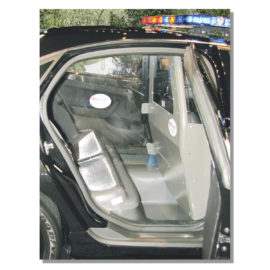 pro guard pro cell inside police cruiser