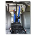 pro guard tri lock inside police cruiser