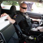 brother pocketjet printer inside the police cruiser