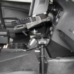 Gomber dock for Panasonic Toughbook inside police cruiser