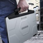 Panasonic Toughbook by the handle