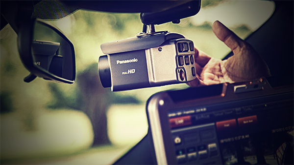 Police car dashboard camera