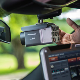 Panasonic Full HD camera inside police cruiser