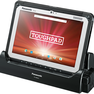 Panasonic FZ-A2 Toughpad in nesting in charging dock